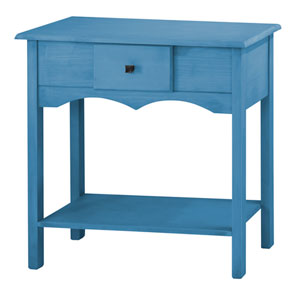 Jay 31.5-Inch Tall Sideboard with 1 Full Extension Drawer in Blue Wash