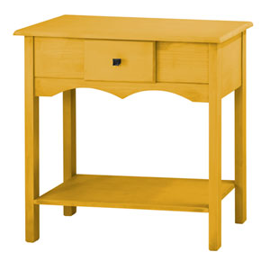 Jay 31.5-Inch Tall Sideboard with 1 Full Extension Drawer in Yellow Wash