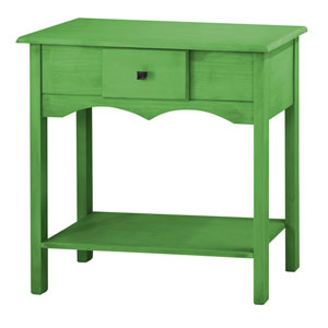 Jay 31.5-Inch Tall Sideboard with 1 Full Extension Drawer in Green Wash