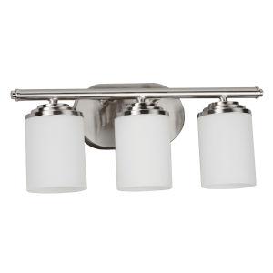 Waterford Satin Nickel Three-Light Bath Vanity