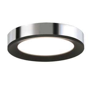 Alta Black and Chrome 12-Inch LED Flush Mount