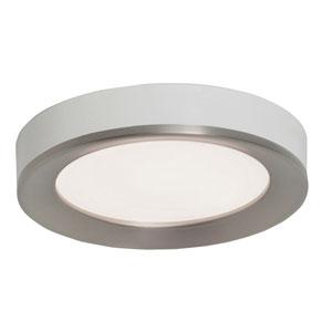 Alta Satin Nickel and White 12-Inch  LED Flush Mount