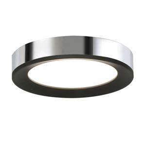 Alta Black and Chrome 16-Inch LED Flush Mount