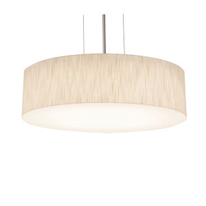 Anton Satin Nickel 12-Inch LED Pendant with Jute Shade