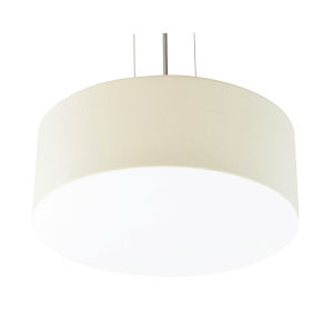 Anton Satin Nickel 12-Inch LED Pendant with Linen White Shade