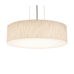 Anton Satin Nickel 15-Inch LED Pendant with Jute Shade