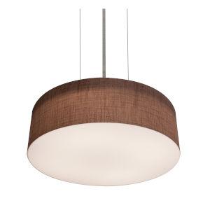 Anton Satin Nickel 30 Watts LED Pendant with Mocha Linen Shade