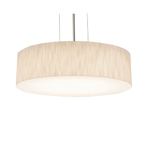 Anton Satin Nickel 19-Inch LED Pendant with Jute Shade