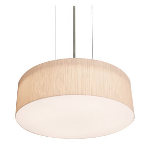 Anton Satin Nickel 42 Watts LED Pendant with Louver Resin Shade