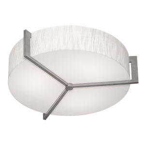 Apex Weathered Gray 17-Inch LED Flush Mount with Jute Shade