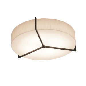 Apex Espresso 21-Inch LED Flush Mount with Jute Shade