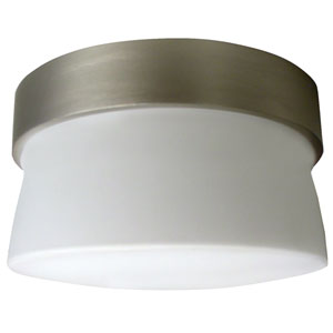 Aria Satin Nickel LED Outdoor Flush Mount