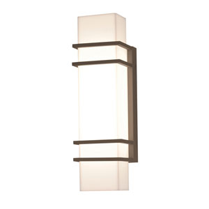 Blaine Textured Bronze 16-Inch 120/277V LED Outdoor Wall Sconce