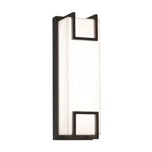 Beaumont Textured Oil Rubbed Bronze 15-Inch 120/277V LED Outdoor