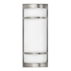 Brio Satin Nickel Eight-Inch One-Light 32 Watts Outdoor Wall Sconce