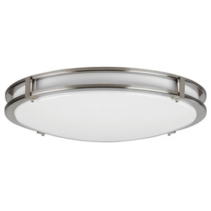 Carlisle Satin Nickel 27W 3000K LED Energy Star Flush Mount