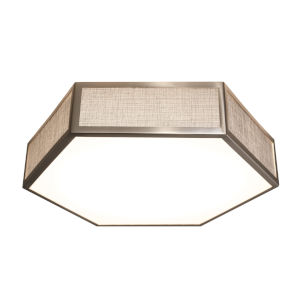 Clara Satin Nickel LED Flush Mount