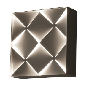 Commons White LED Wall Sconce with White Steel Shade