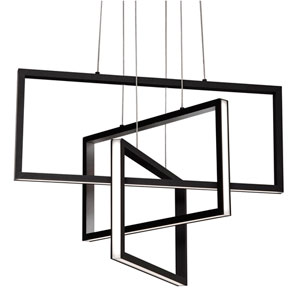 Cole Black 24-Inch LED Pendant