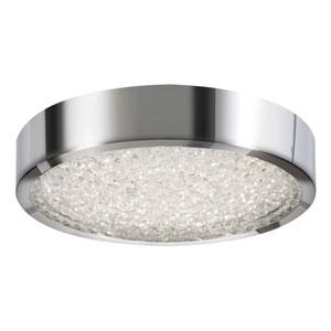 Diamonds Polished Chrome LED Flush Mount