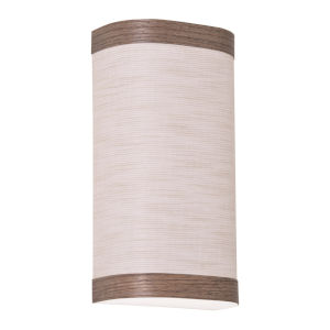 Eden Chocolate 12-Inch LED Wall Sconce with Jute Shade
