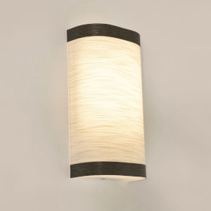 Eden Chocolate 12-Inch LED Wall Sconce with Linen White Shade