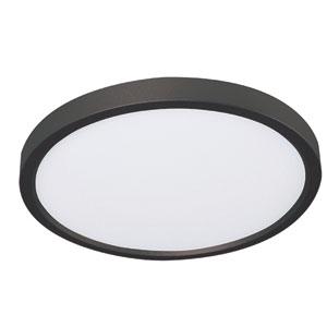 Edge Black Eight-Inch LED Flush Mount