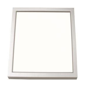 Edge Square Satin Nickel 4-Inch LED Flush Mount