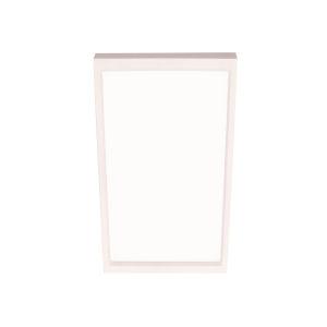 Edge Square White 4-Inch LED Flush Mount