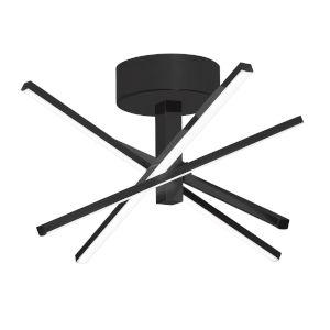 Jaxx Black Four-Light LED Semi Flush Mount