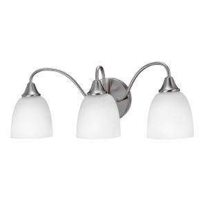 Jordan Satin Nickel Three-Light LED Bath Vanity