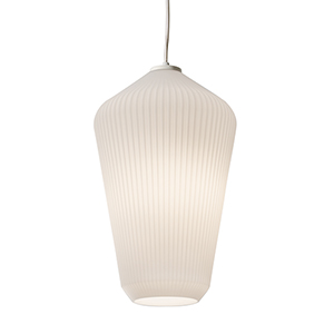Lola White 11-Inch One-Light Pendant