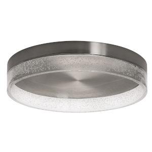 Maggie Satin Nickel 16-Inch LED Flush Mount