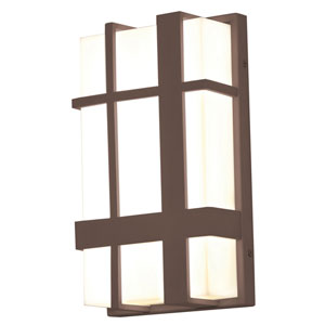 Max Textured Bronze 12-Inch 120/277V LED Outdoor Wall Sconce