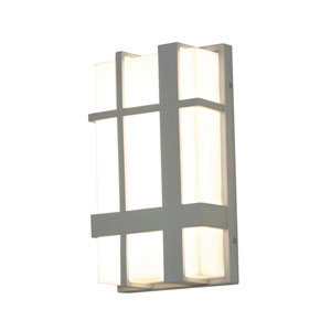 Max Textured Grey 12-Inch 120/277V LED Outdoor Wall Sconce