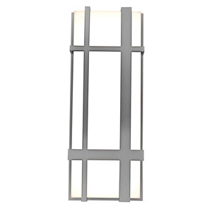 Max Textured Grey 18-Inch 120/277V LED Outdoor Wall Sconce