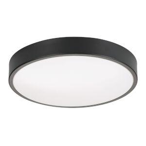 Octavia Black Three-Light 14-Inch LED Flush Mount