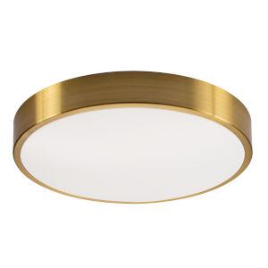 Octavia Satin Brass Three-Light 14-Inch LED Flush Mount