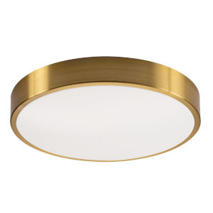 Octavia Satin Brass Four-Light 19-Inch LED Flush Mount