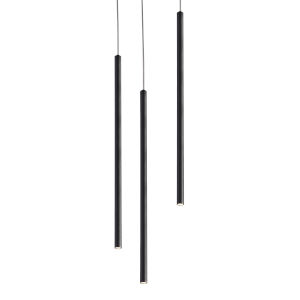 Point Black Three-Light LED Mini Pendant