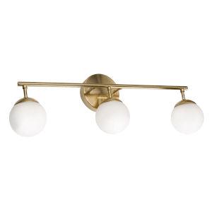 Pearl Gold Three-Light LED Vanity