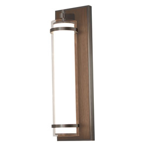 Arden Oil Rubbed Bronze and Walnut Finish LED Wall Sconce