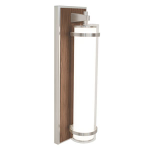 Arden Satin Nickel and Walnut Finish LED Wall Sconce
