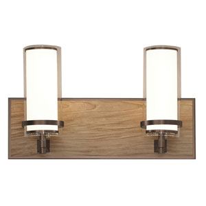 Arden Oil Rubbed Bronze and Walnut Finish Two-Light LED Bath Vanity