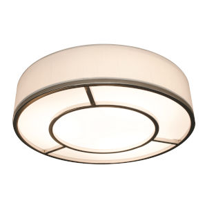 Reeves Satin Nickel 20-Inch LED Flush Mount
