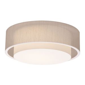 Sanibel White 16-Inch LED Flush Mount with Jute Shade