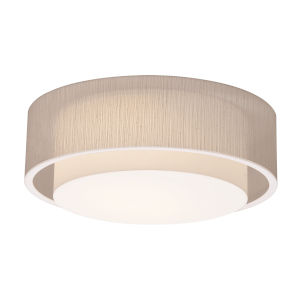 Sanibel White 18-Inch LED Flush Mount with Jute Shade