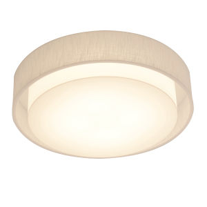 Sanibel White 23-Inch LED Flush Mount with Linen White Shade