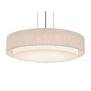 Sanibel Satin Nickel 18-Inch LED Pendant