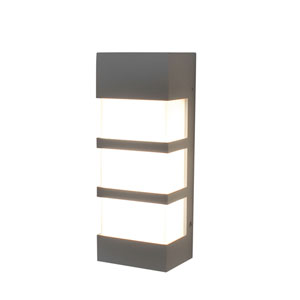 State Textured Grey 12-Inch 120/277V LED Outdoor Wall Sconce